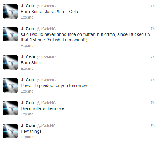 jcole tweets born